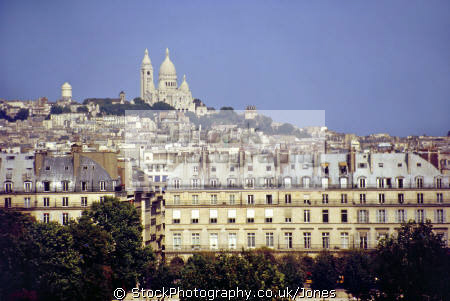paris skyline sacr -c ur montmartre paris. taken roof restaurant mus orsay. french european travel musee sacre coeur france cathedral catholic paul abadie parisienne la francia frankreich europe