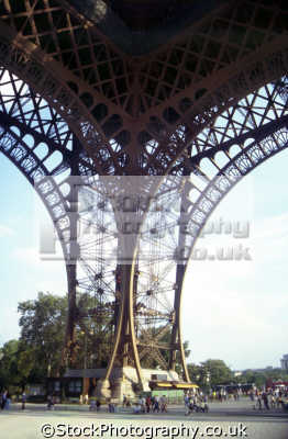 legs eiffel tower. french european travel tour paris france engineering iron iconic parisienne la francia frankreich europe