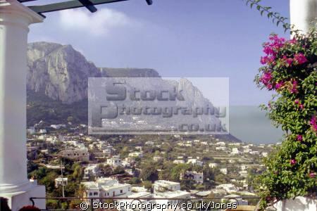 view near piazza umberto capri town. southern italy italian european travel island campania costiera amafitana neopolitan riviera italien italia italie europe