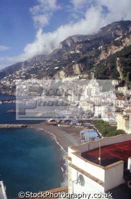 town amalfi. southern italy italian european travel campania costiera amalfitana neopolitan naples napoli amalfi coast italien italia italie europe