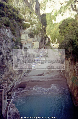 il fiordo di furore near amalfi costiera amalfitana. southern italy italian european travel sorrento campania neopolitan naples napoli coast italien italia italie europe