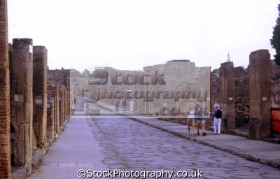major street pompeii. archeology archeological science misc. naples napoli campania volcano vesuvius ash pumice pyroclastic flow napolitan italy italien italia italie europe european italian
