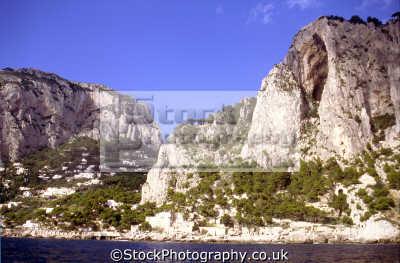 rugged south coast island capri. geology geological science misc. campania marina piccola napoli naples italy italia capri italien italie europe european italian
