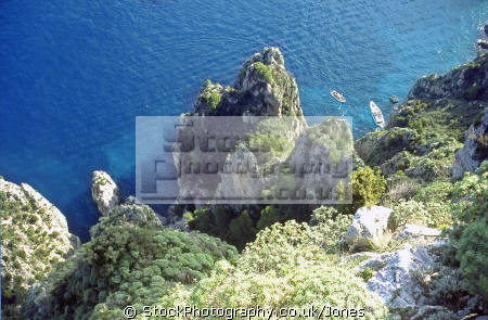 north isle capri looking sea. southern italy italian european travel transparent turquoise pristine sorrento naples italien italia italie europe