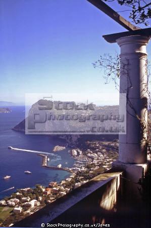 looking marina grande piazza umberto capri town. southern italy italian european travel costiera amalfitana sorrento naples napoli italien italia italie europe