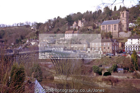 ironbridge shropshire uk midlands towns england english industrial revolution foundry casting coalbrookdale great britain united kingdom british