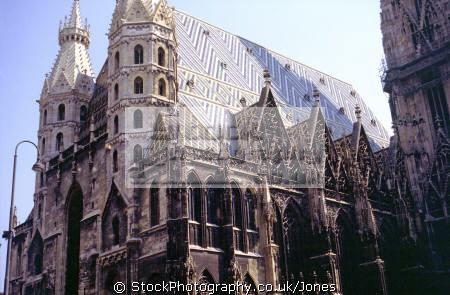 lower elevations st. stephen cathedral vienna. european travel wien austria gothic osterreich vienna vienese österreich europe austrian