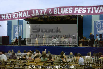 national jazz blues festival plumpton racecourse 1970. onstage band burning red ivanhoe. rock bands roll pop stars celebrities celebrity fame famous star people persons popular music live openair concert sussex home counties england english great britain united kingdom british