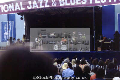 national jazz blues festival plumpton racecourse 1970. onstage band colosseum. rock bands roll pop stars celebrities celebrity fame famous star people persons popular music live openair concert sussex home counties england english great britain united kingdom british