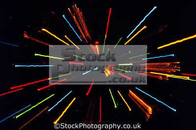 zoom effect zooming christmas tree second exposure. abstracts misc. star field burst shell hyperspace warp trek supernova fireworks united states american