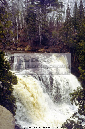 temperance river falls lake superior minnesota. waterfalls cascade cataracts geology geological science misc. great highway 61 hwy usa waterfall northshore schroeder tofte minnesota united states america american