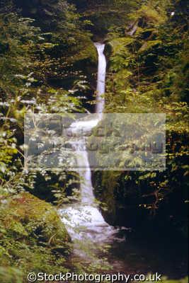 waterfall hoaroak water near watersmeet devon waterfalls cascade cataracts geology geological science misc. exmoor lynton lynmouth east lyn devonian england english great britain united kingdom british