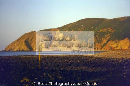 lynmouth bay sunset uk coastline coastal environmental devon foreland point exmoor lynton countisbury kipscombe common hill devonian england english great britain united kingdom british