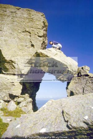 castle rock valley rocks lynton devon. uk coastline coastal environmental exmoor limestone lorna doon lee bay abbey devon devonian england english great britain united kingdom british