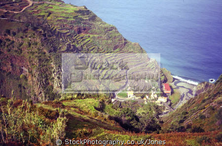 ribeira da janela valley north madeira. portuguese portugese european travel island terrace terracing atlantic portugal porto moniz precipitous madiera europe
