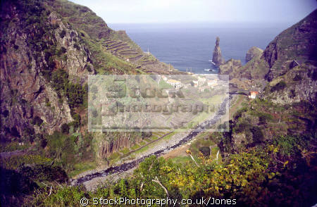 ribeira da janela valley portuguese portugese european travel island terrace terracing atlantic portugal porto moniz precipitous madiera europe