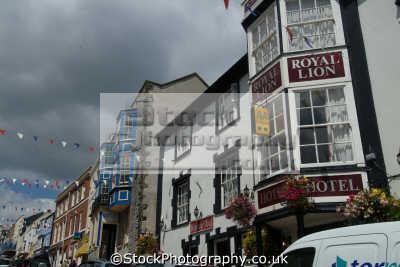 honiton devon high street royal lion pub south west england southwest country english uk devonian great britain united kingdom british