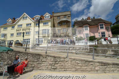lyme regis dorset bay hotel marine parade seafront uk coastline coastal environmental england english great britain united kingdom british