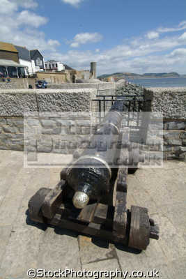 lyme regis dorset cannon south west towns england southwest country english uk great britain united kingdom british