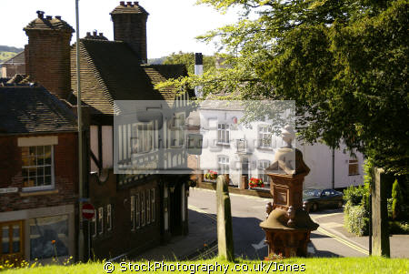 cheadle staffordshire. south end high street talbot inn. uk towns environmental public house moorlands potteries alton towers staffordshire staffs england english great britain united kingdom british