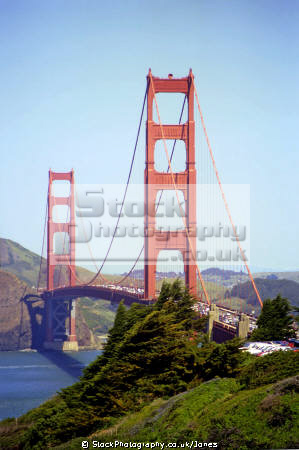 golden gate bridge san francisco california american yankee travel sf bay highway 101 interstate marin peninsula headlands fort point park recreational area franciscan californian usa united states america