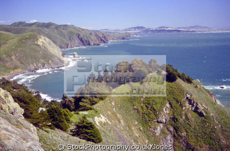 marin headlands san francisco distance. california american yankee travel peninsula bay area golden gate county pacifica franciscan californian usa united states america