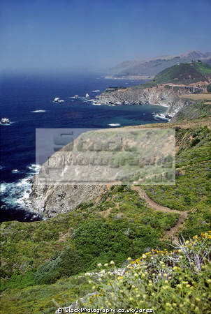 big sur coastline looking north bixby bridge. carmel california american yankee travel highway andrew molera state park pacific monterey californian usa united states america kingdom british