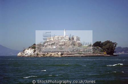 alcatraz island san francisco bay. california american yankee travel prison penal colony birdman sf bay golden gate bridge franciscan californian usa united states america