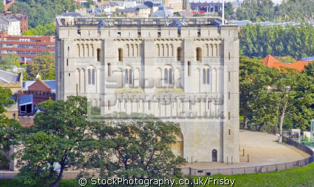 view norwich castle city hall clock tower british castles architecture architectural buildings uk building norman medieval cityscape norfolk england english great britain united kingdom