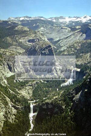 yosemite national park showing merced river vernal nevada falls. california american yankee travel glacier point np misty trail john muir granite liberty bell californian usa united states america