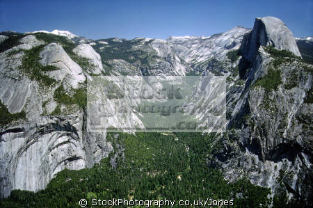 yosemite valley royal arches half dome. california american yankee travel national park np merced river john muir granite californian usa united states america