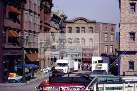 film set universal studios hollywood la los angeles california american yankee travel tinseltown lot street scene extras production californian usa united states america