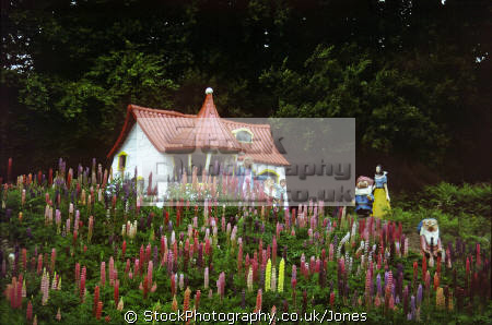 storybook glen near aberdeen. uk theme parks amusement tourist attractions leisure children kiddies fairy tale snow white seven dwarfs lupins aberdeen aberdeenshire scotland scottish scotch scots escocia schottland great britain united kingdom british