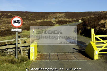 cattle grid mountain moorland landscape gate side. isle man gates abstracts misc. cattlegrid barrier sheep great britain united kingdom british