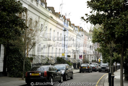 row houses chelsea kings road. terraced coloured outsides road famous ...