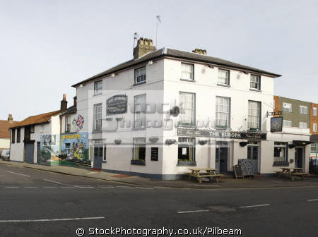 europa pub walton road east molesey surrey kt8. mural queen jubilee public houses tavern bar alchohol british architecture architectural buildings uk house suburb south london england english great britain united kingdom