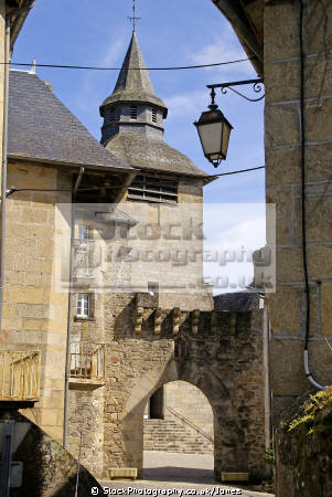 port margot village corrèze department corrèze. french buildings european travel mediaeval medieval walled gate church eglise correze limousin france la francia frankreich europe