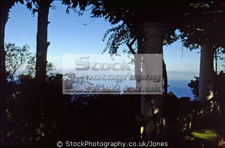 vesuvius bay naples capri garden famous 19th century doctor author axel munthe southern italy italian european travel shaded italia costiera amalfitana sorrento napoli ornamental italien italie europe