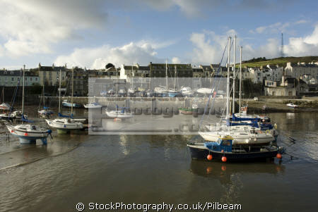 yachts port st mary harbour south coast isle man low tide yachting sailing sailboats boats marine misc. fishing sea manx iom tourist england english great britain united kingdom british