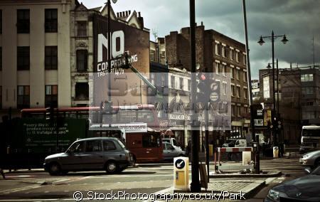 street brick lane london capital england english uk advertise antique building traffic tower hamlets cockney great britain united kingdom british