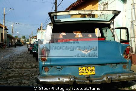 cuban family vintage car trinidad. classic cars misc. cuba trinidad caribbean oceans