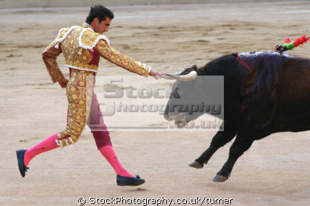 taken barcelona bull fight matador. human activities people persons matador bullfight spain spanien españa espagne la spagna europe european spanish