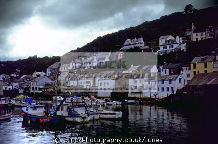 harbour polperro harbor uk coastline coastal environmental fishing boat village port quayside anchorage haven cornwall cornish england english great britain united kingdom british