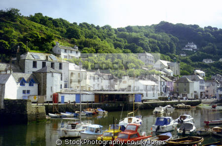 polperro south coast cornwall. harbour harbor uk coastline coastal environmental fishing boat village port quayside anchorage haven cornwall cornish england english great britain united kingdom british