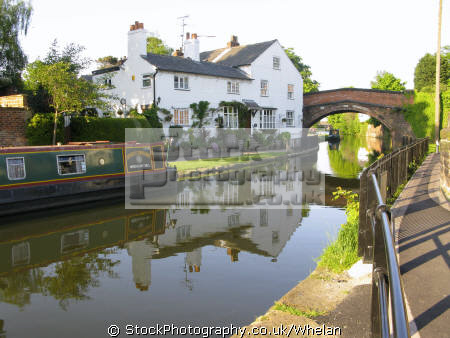 canalside cottage north west northwest england english uk lymm cheshire canal great britain united kingdom british