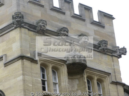 gargoyles keeping close eye oxford high street historical uk buildings history british architecture architectural university college oxfordshire home counties england english great britain united kingdom