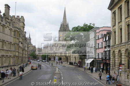 oxford high street unusual british buildings strange wierd uk oxfordshire home counties england english great britain united kingdom