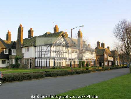 port sunlight garden village founded 1888 william hesketh lever house soap factory workers unusual british buildings strange wierd uk birkenhead merseyside scouse england english great britain united kingdom