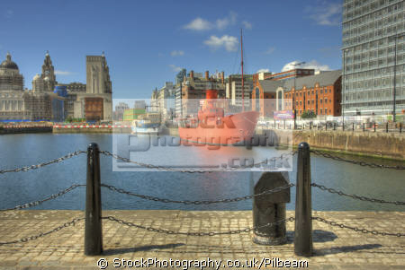 lightship dockside buildings new city development albert dock docks uk coastline coastal environmental boat harbour ship liverpool scouse regeneration merseyside england english great britain united kingdom british