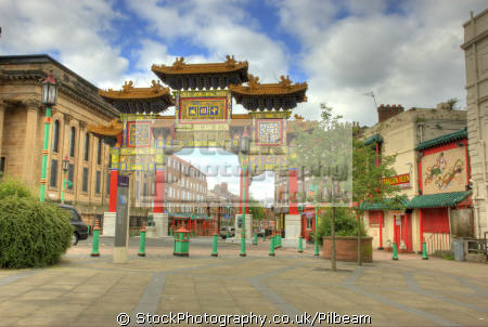 chinese arch chinatown area liverpool gates abstracts misc. china food archway ornate merseyside scouse england english great britain united kingdom british